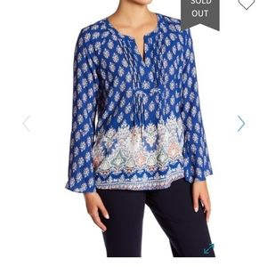 DANIEL RAINN DR2 NWT Boho Tunic Blouse Small